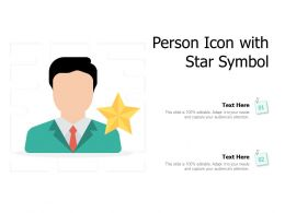 Person Icon With Star Symbol