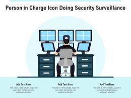 Person In Charge Icon Doing Security Surveillance