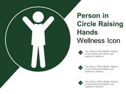 Person In Circle Raising Hands Wellness Icon