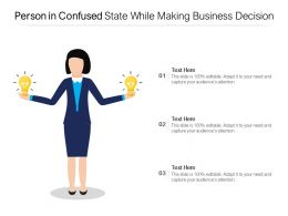 Person In Confused State While Making Business Decision