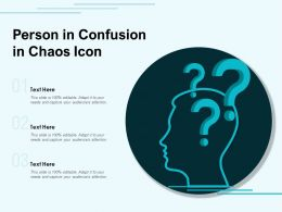 Person In Confusion In Chaos Icon