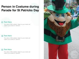 Person In Costume During Parade For St Patricks Day