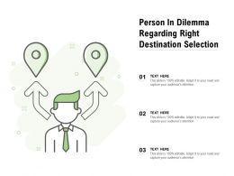 Person In Dilemma Regarding Right Destination Selection