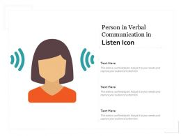 Person In Verbal Communication In Listen Icon