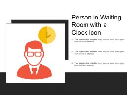 Person In Waiting Room With A Clock Icon
