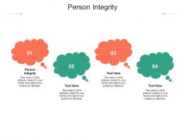 Person Integrity Ppt Powerpoint Presentation Slides Background Cpb