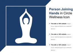 Person Joining Hands In Circle Wellness Icon