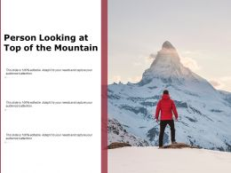 Person Looking At Top Of The Mountain