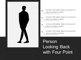 Person Looking Back With Four Point
