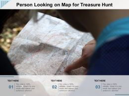 Person Looking On Map For Treasure Hunt