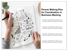 Person Making Plan For Coordination In Business Meeting