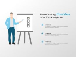 Person Marking Checkbox After Task Completion