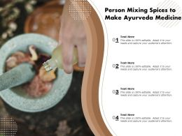 Person Mixing Spices To Make Ayurveda Medicine