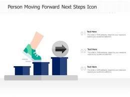 Person Moving Forward Next Steps Icon