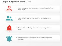 Person Outline People Notifications Paused And On Ppt Icons Graphics