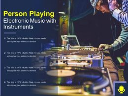Person Playing Electronic Music With Instruments