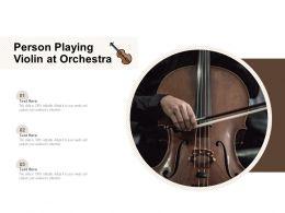 Person Playing Violin At Orchestra
