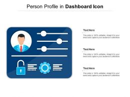 Person Profile In Dashboard Icon