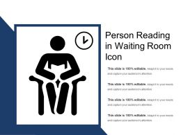 Person Reading In Waiting Room Icon