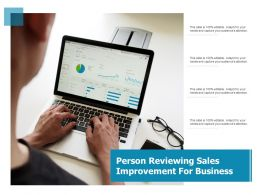 Person Reviewing Sales Improvement For Business