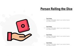 Person Rolling The Dice