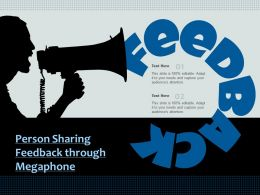 Person Sharing Feedback Through Megaphone