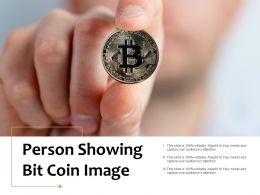 Person Showing Bit Coin Image