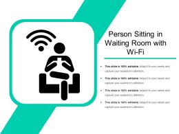 Person Sitting In Waiting Room With Wi Fi