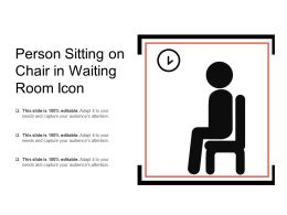 Person Sitting On Chair In Waiting Room Icon