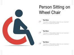 Person Sitting On Wheel Chair
