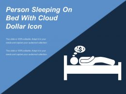 Person Sleeping On Bed With Cloud Dollar Icon