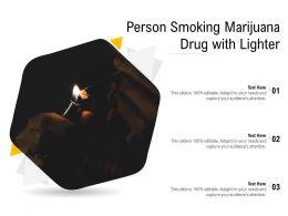 Person Smoking Marijuana Drug With Lighter