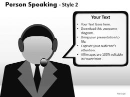 Person Speaking Style 2 Powerpoint Presentation Slides