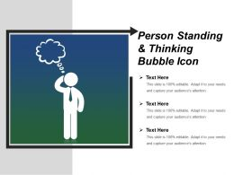 Person Standing And Thinking Bubble Icon