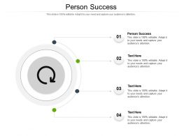 Person Success Ppt Powerpoint Presentation Summary Rules Cpb