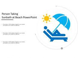 Person Taking Sunbath At Beach Powerpoint