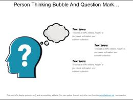 Person Thinking Bubble And Question Mark Powerpoint Slide