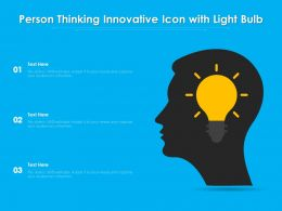 Person Thinking Innovative Icon With Light Bulb