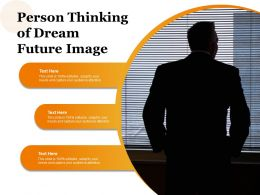 Person Thinking Of Dream Future Image