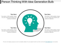 Person Thinking With Idea Generation Bulb