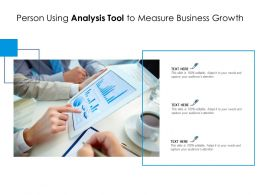 Person Using Analysis Tool To Measure Business Growth