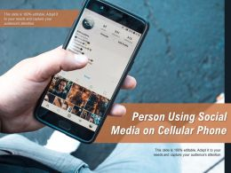 Person Using Social Media On Cellular Phone