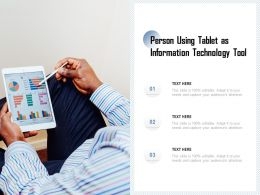 Person Using Tablet As Information Technology Tool