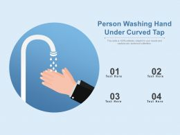 Person Washing Hand Under Curved Tap