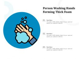 Person Washing Hands Forming Thick Foam