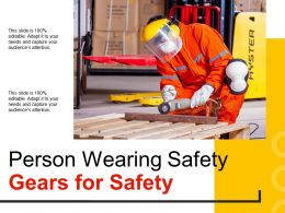 Person Wearing Safety Gears For Safety