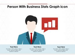 Person With Business Stats Graph Icon