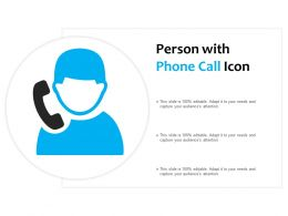 Person With Phone Call Icon