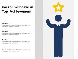 Person With Star In Top Achievement
