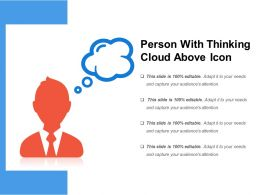 Person With Thinking Cloud Above Icon